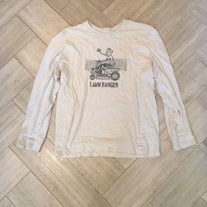 "Brand NWOT Men's Life Is Good ""Lawn Ranger"" Shirt"